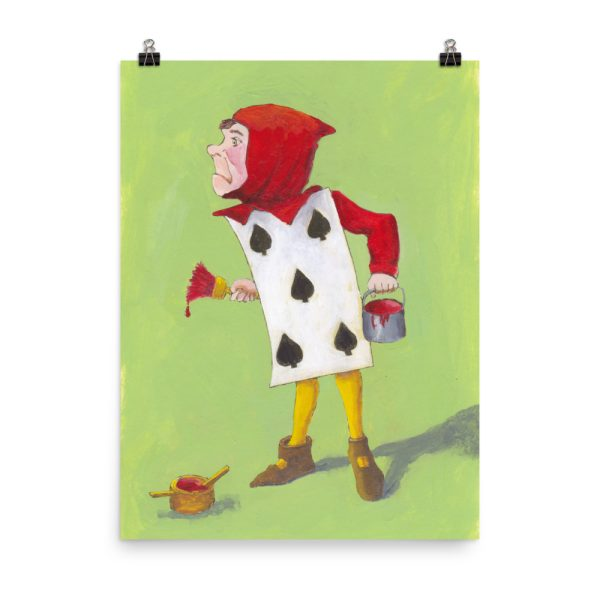 Alice in Wonderland, 5 of Spades Poster Print Wall Art