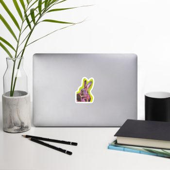Red Belgian Hare Sticker | 3 x 3 inch Kiss Cut Vinyl Sticker