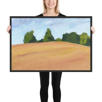 Kent Countryside Landscape Painting Framed Print Wall Art