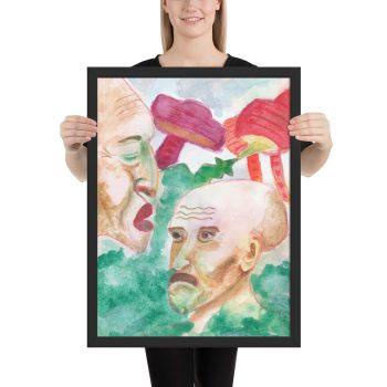 Dystopian World Framed Print Wall Art