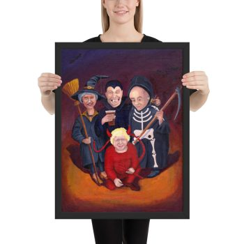 Brexit Halloween Painting Framed Print Wall Art