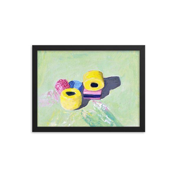 Bassetts Licorice Allsorts, Still Life Painting Framed Print Wall Art
