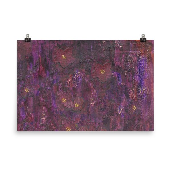 Purple Mixed Media Texture Poster Print Wall Art