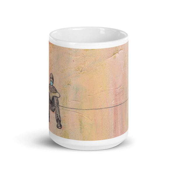 Social Distancing Sitting with Face Mask 15oz Ceramic Coffee Mug