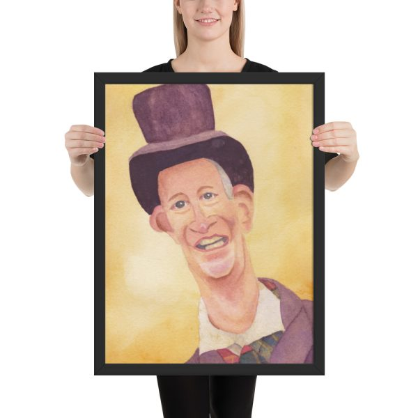 Victorian Man in Top Hat Framed Print Wall Art