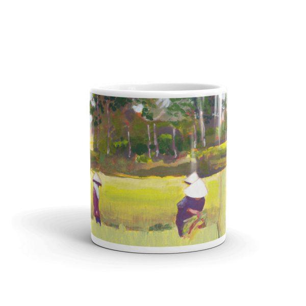 Vietnamese Paddy Workers in Field 11oz Ceramic Coffee Mug