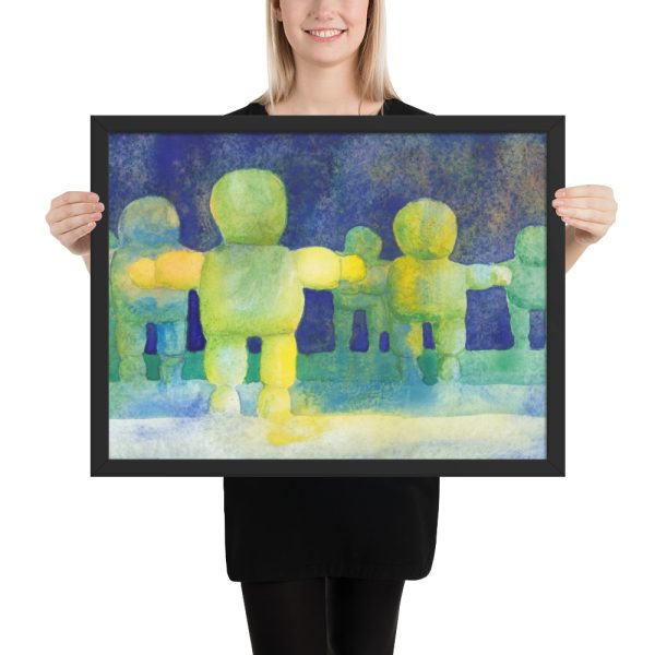Arms Wide, Watercolour Painting Framed Print Wall Art