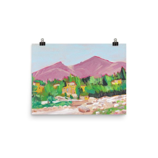 Afghan Oasis Landscape Painting, Poster Print Wall Art