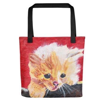 Naughty Kitten Tote Bag