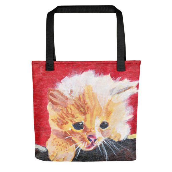 Naughty Kitten Tote Bag