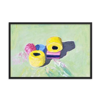 Bassetts Licorice Allsorts, Still Life Painting Framed Print Wall Art