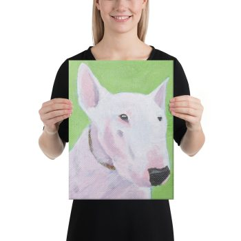 English Bull Terrier Canvas Print Wall Art