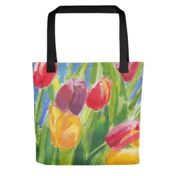 Colourful Tulips Tote Bag