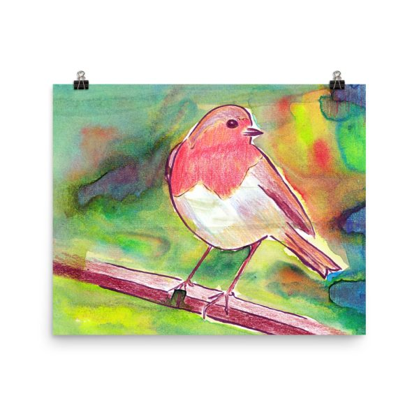 Robin Redbreast Painting Poster Print Wall Art