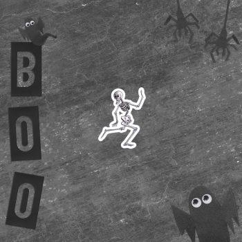 Scared Skeleton Running Sticker | 3 x 3 inch Kiss Cut Vinyl Sticker