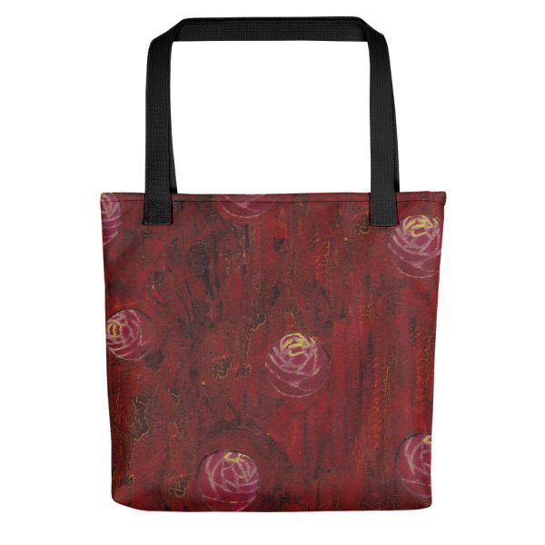 Red Mixed Media Texture Tote Bag