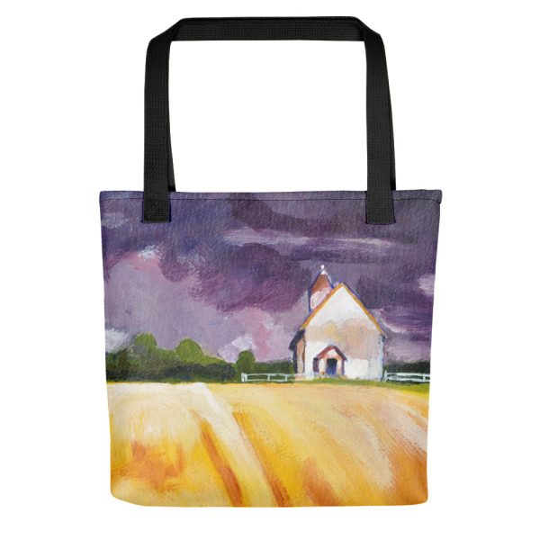 Cottage by Yellow Fields Tote Bag