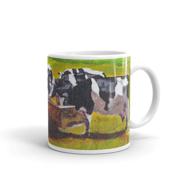 Cows Feeding in Field 11oz Ceramic Coffee Mug