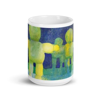 Arms Wide Watercolour Painting 15oz Ceramic Coffee Mug