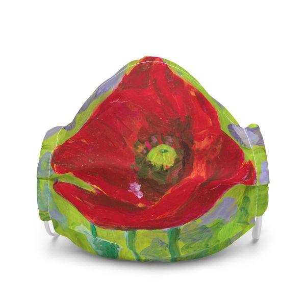 Red Poppy Flower Face Mask