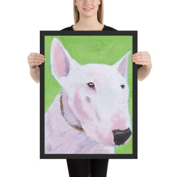 English Bull Terrier Painting Framed Print Wall Art