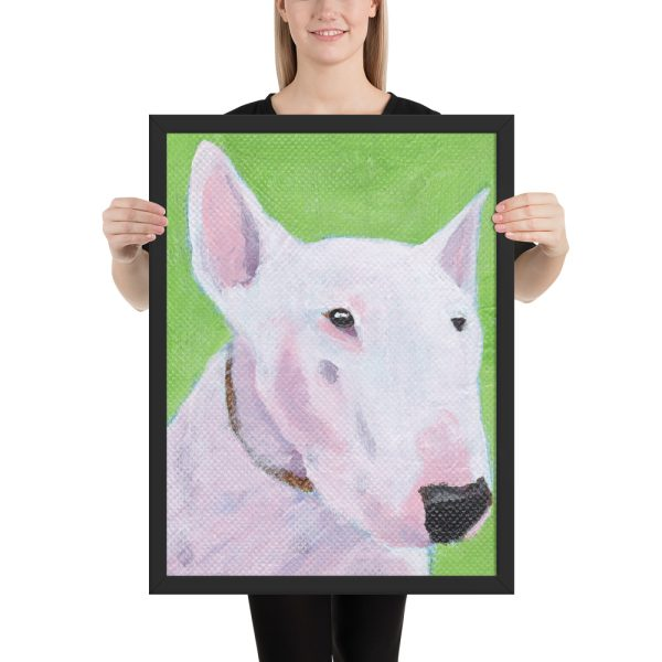 English Bull Terrier Painting Framed Print Wall Art