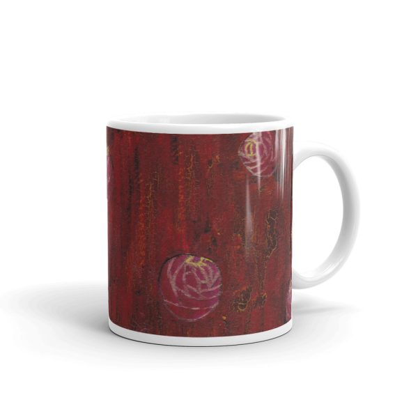 Red Mixed Media Texture 11oz Ceramic Coffee Mug