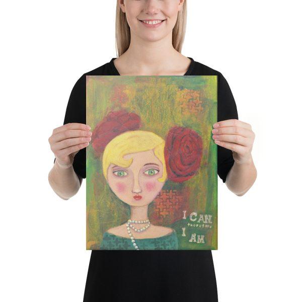 Mixed Media Lady Canvas Print Wall Art