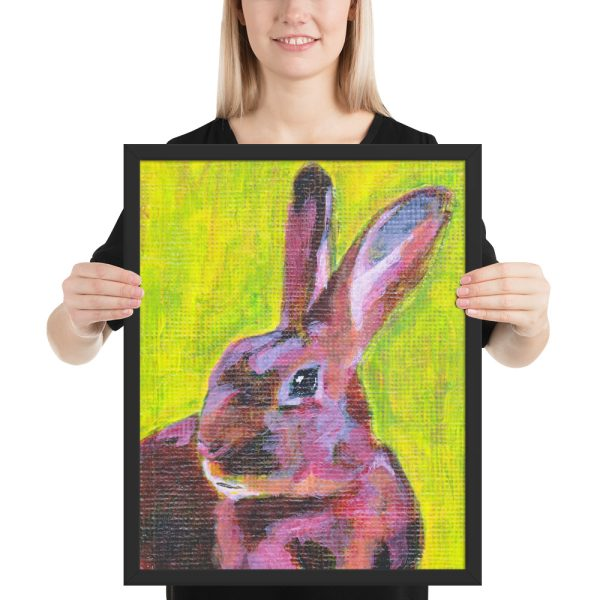 Red Belgian Hare Painting Framed Print Wall Art