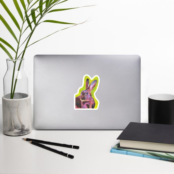 Red Belgian Hare Sticker | 4 x 4 inch Kiss Cut Vinyl Sticker