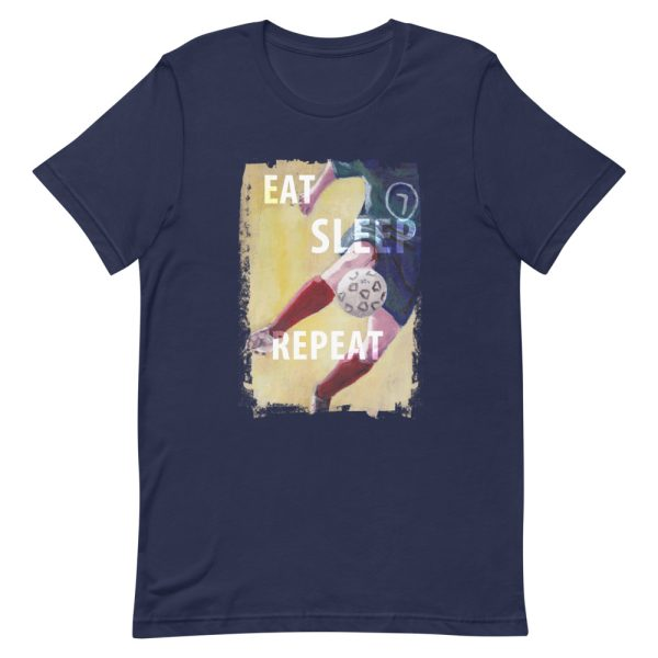Navy blue tshirt | Eat Sleep Soccer Football Repeat T-shirt
