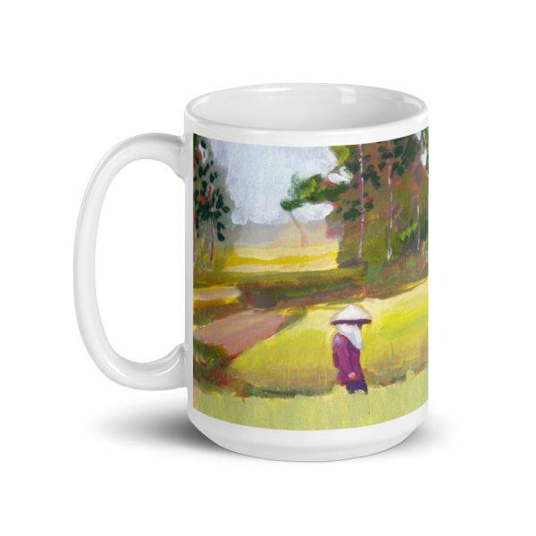 Vietnamese Paddy Fields 15oz Ceramic Coffee Mug