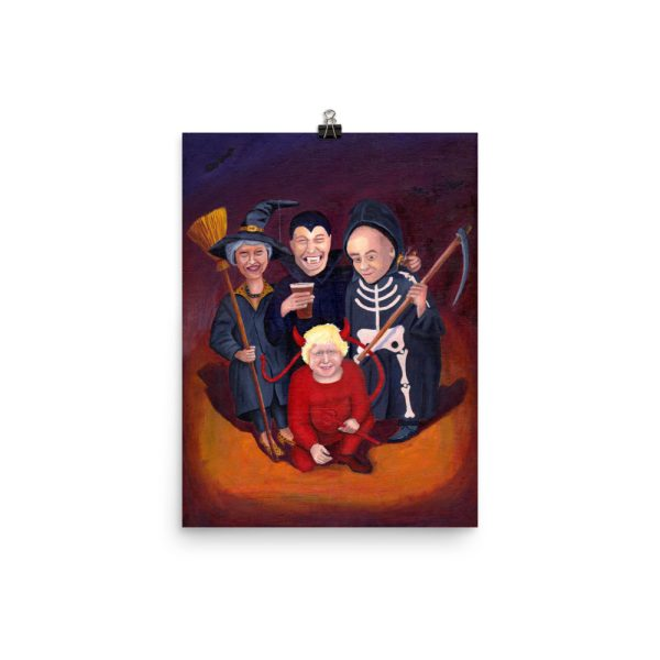 Brexit Halloween Painting Poster Print Wall Art