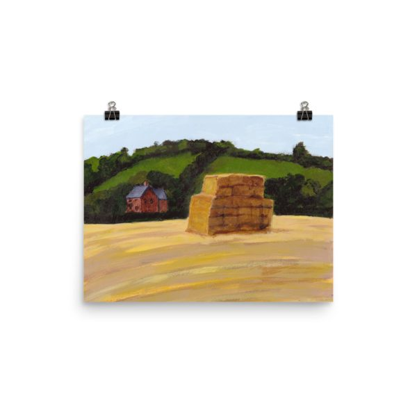 Haystack in England Landscape Painting Poster Print Wall Art