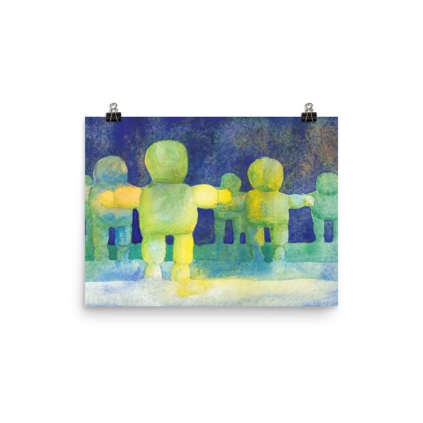 Arms Wide, Watercolour Painting Poster Print Wall Art