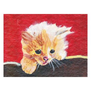 Naughty Kitten Poster Print Wall Art