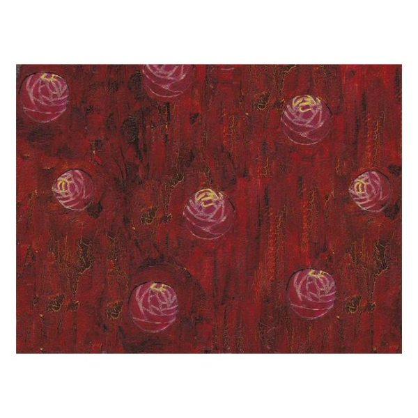 Red Mixed Media Texture Poster Print Wall Art