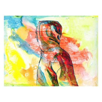 Over There, Ink Painting, Poster Print Wall Art