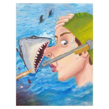 Whew Shark Shock Poster Print Wall Art