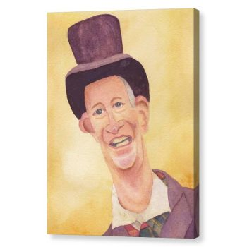 Victorian Man in Top Hat Canvas Print Wall Art