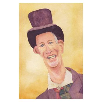 Victorian Man in Top Hat Poster Print Wall Art