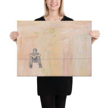 Social Distance Sitting Canvas Print Wall Art