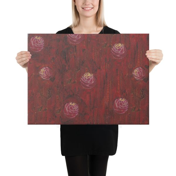 Red Mixed Media Background Canvas Print Wall Art