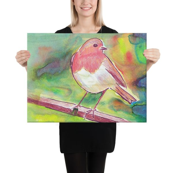 Robin Redbreast Canvas Print Wall Art
