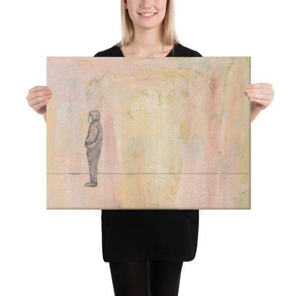 Social Distance Standing Canvas Print Wall Art