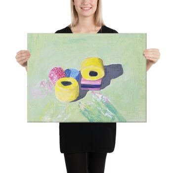 Bassetts Liquorice Allsorts Canvas Print for Home Decor