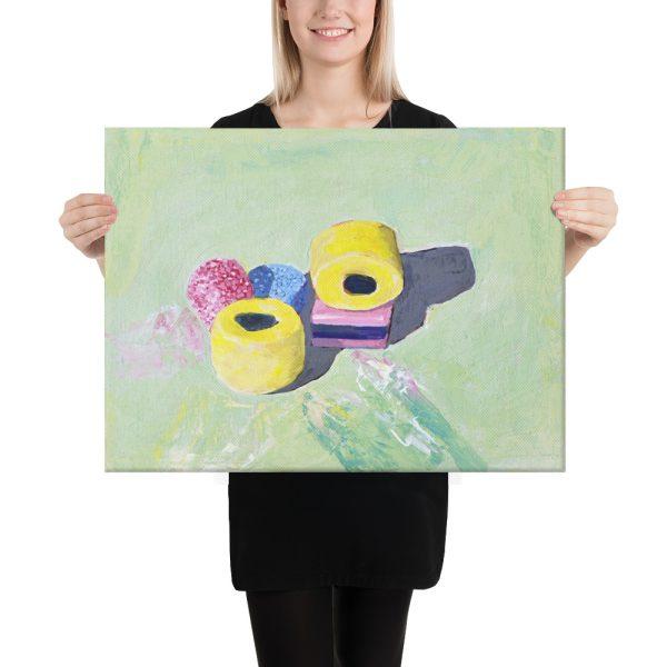 Bassetts Liquorice Allsorts Canvas Print for Home Decor