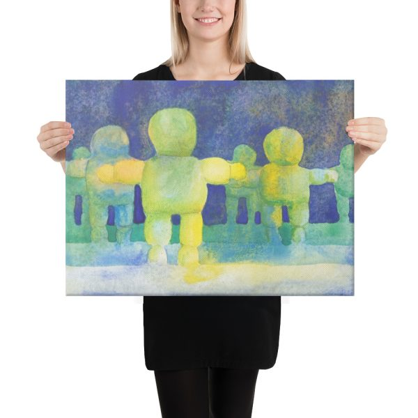 Arms Wide Canvas Print Wall Art