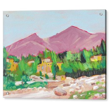 Afghanistan Oasis Painting 18 x 24 inches Acrylic Print Wall Art