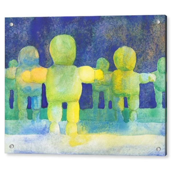 Arms Wide Watercolour Painting 18 x 24 inches Acrylic Print Wall Art